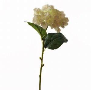 "Cream Artificial Hydrangea Stem 23.5"""