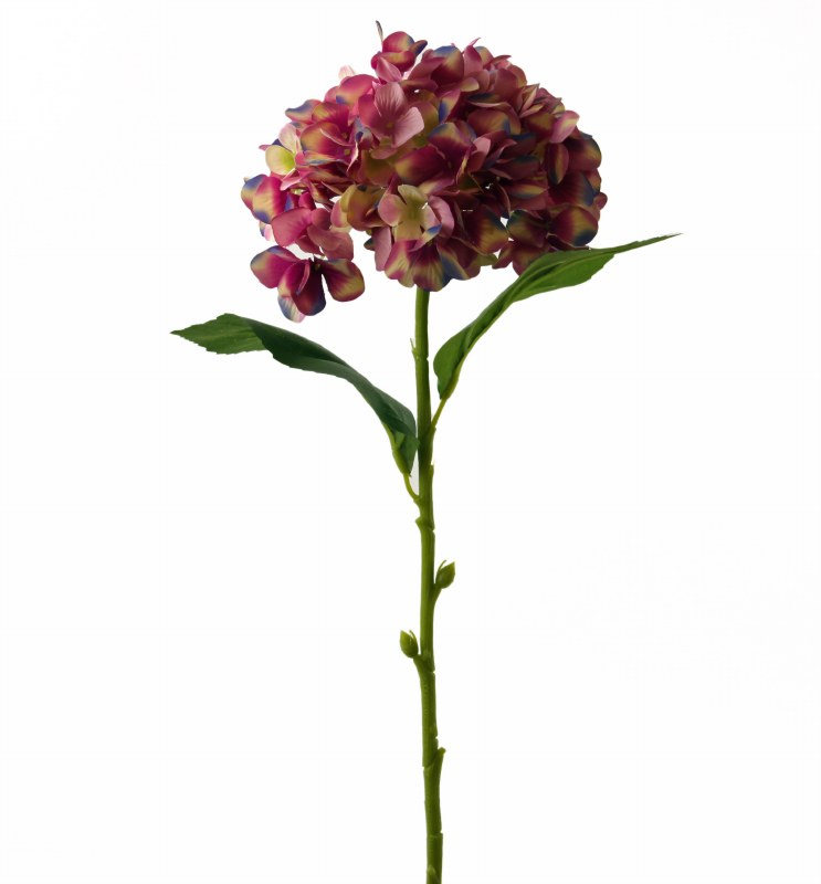 "Pink Artificial Hydrangea Stem 23.5"""