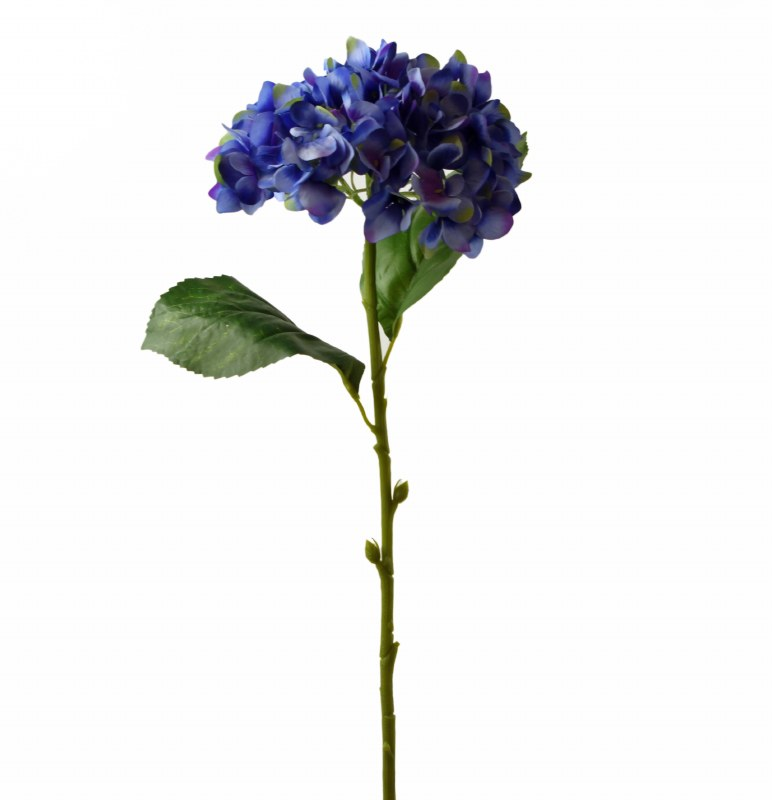 "Blue/ Violet Artificial Hydrangea Stem 23.5"""