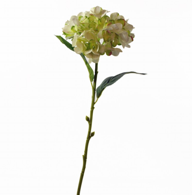 "Cream & Green Artificial Hydrangea Stem 23.5"""