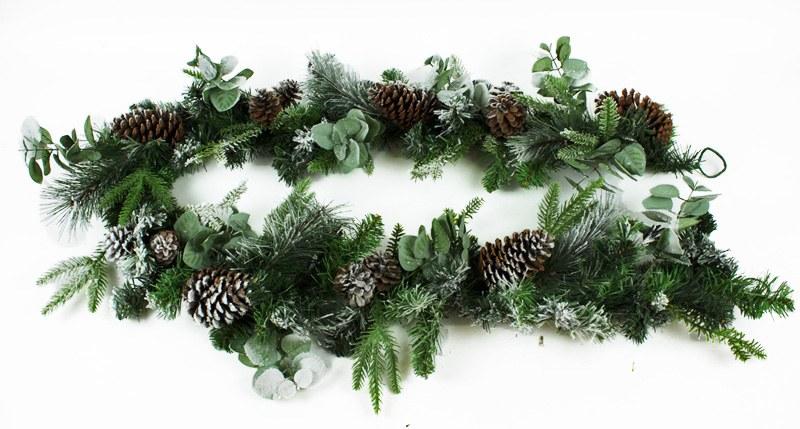 Christmas Pine Cone/Eucalyptus Garland 6ft