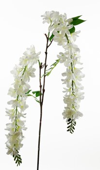 Artificial Wisteria Cream Stem