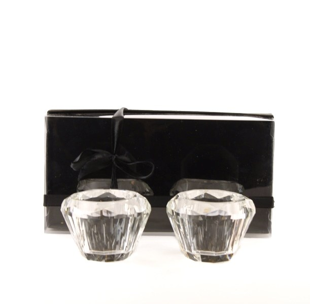 Crystal tea light holders x 2