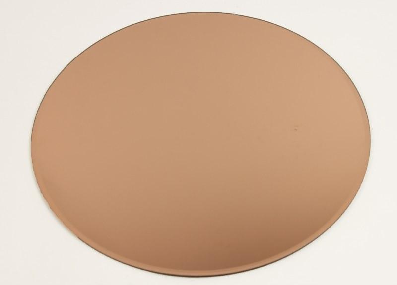 Rose Gold Round Mirror Wedding Plate 40cm
