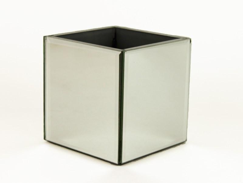 Mirrored Cube Vase 10cm x 10cm x 10cm