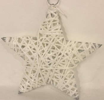 White sisal Christmas star 8in