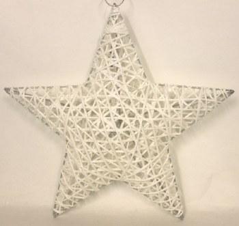 White sisal Christmas star 12in