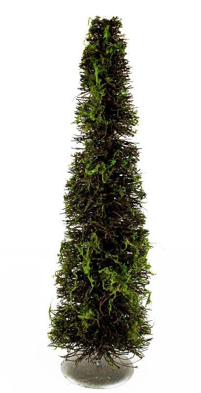 Christmas Wicker & Wire Moss Tree 60cm