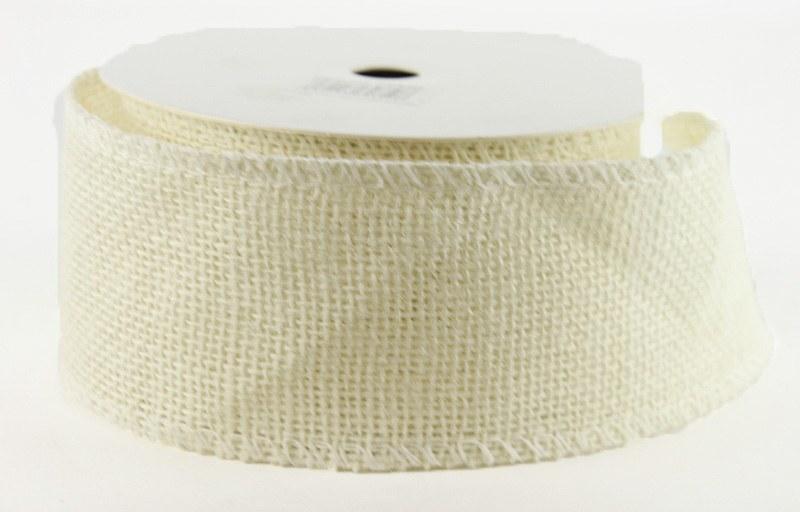 "Ribbon Hessian Wired Edge 2.5"" x 10 Yards"