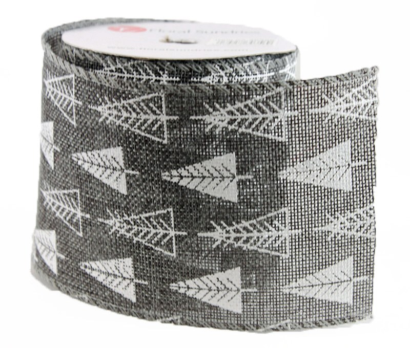 """Christmas Ribbon Wired Edge 4"""" x 10 Yards"""