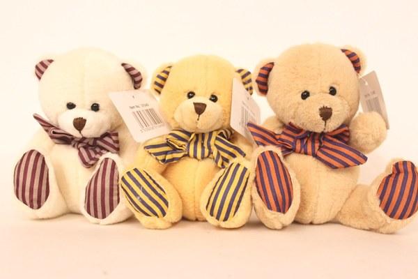Teddy bear with bow 17cm