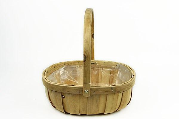 Natural wood trug florist basket