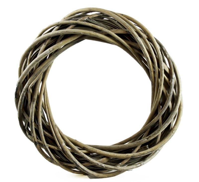 Twig Wicker Wreath 35cm Grey Wash