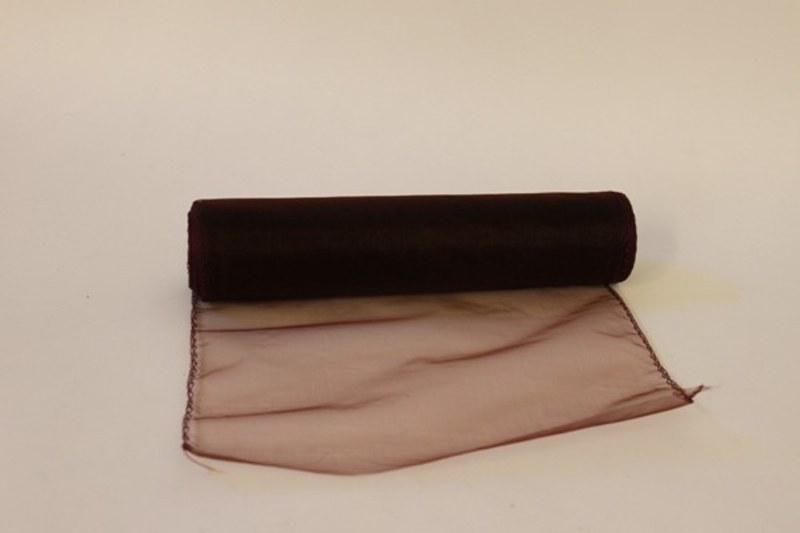 Wine decorative organza fabric, 25cm x 10m