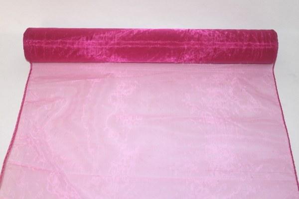 Cerise organza fabric 40cm(approx) x 10m