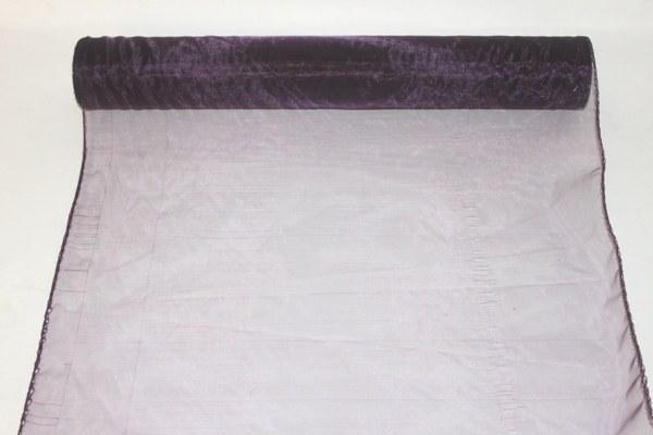 Aubergine organza fabric 40cm(approx) x 10m