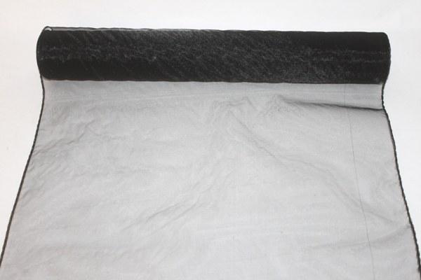 Black organza fabric 40cm(approx) x 10m