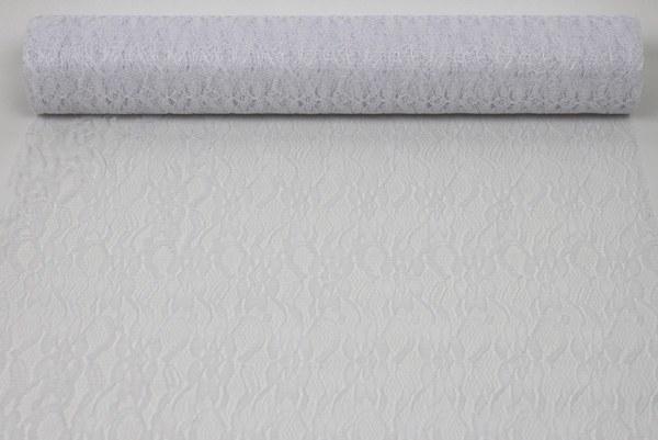 White lace fabric 38.5cm x 10yards