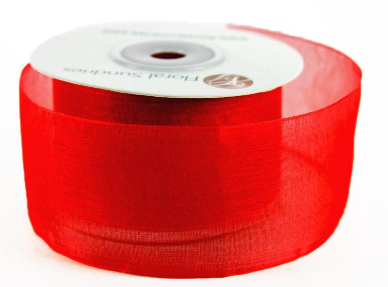 Organza Ribbon Red 4cm x 25 Yards