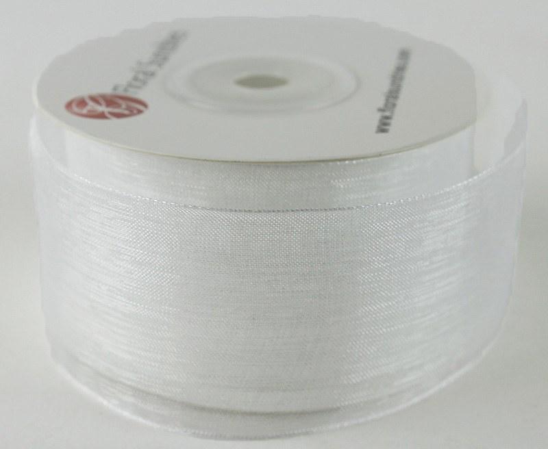 Organza Ribbon 4cm x 25 Yards White
