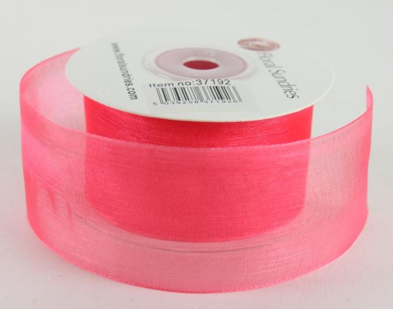 Organza Ribbon Cerise 4cm x 25 Yards