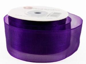 Organza Ribbon Purple 4cm x 25 Yards