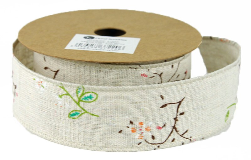 Wild Meadow Hessian Ribbon 4cm x 10 Yards