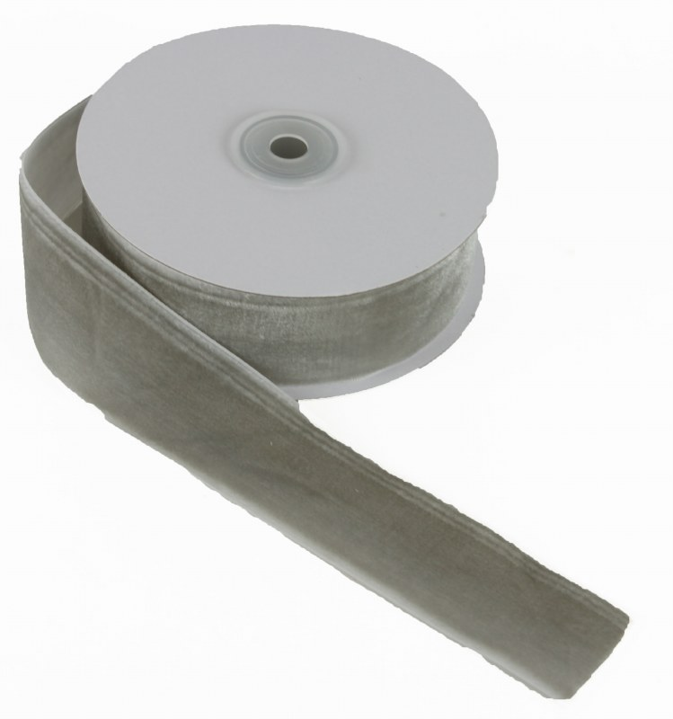 Ribbon Velvet Grey 38mm x 10yards Approx
