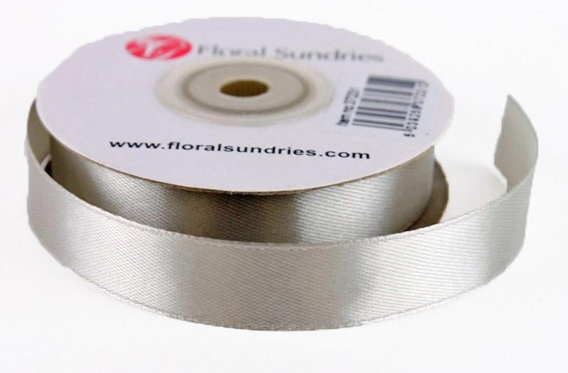 Satin Ribbon Grey 15mm x 25 Yards