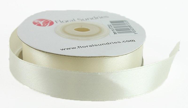 Satin Ribbon Ivory 15mm x 25 Yards
