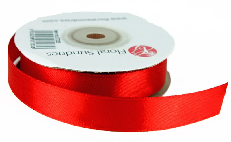 Satin Ribbon 15mm x 25 Yards Red