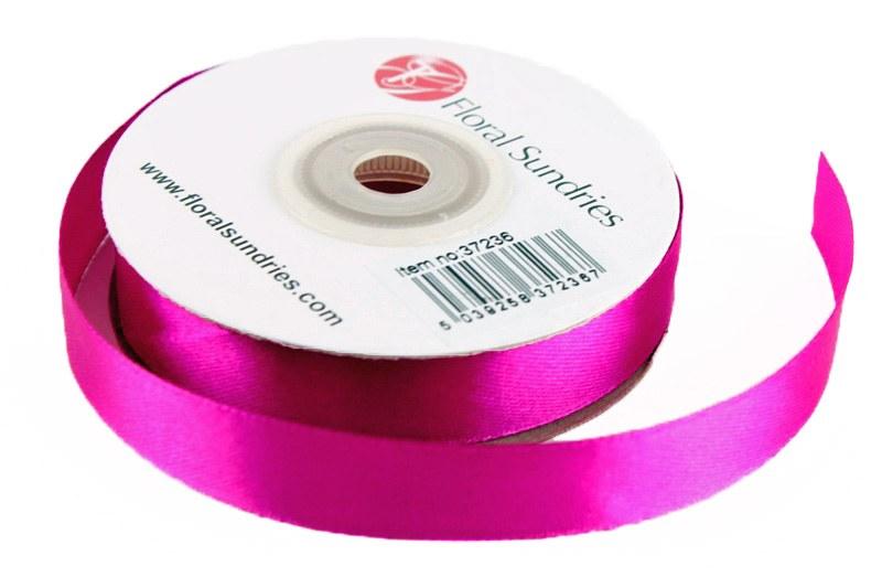 Satin Ribbon Dark Pink 15mm x 25 Yards