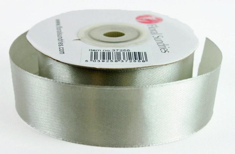 Satin Ribbon Grey 25mm x 25 Yards