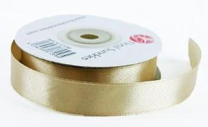 Satin Ribbon Beige 15mm x 25 Yards