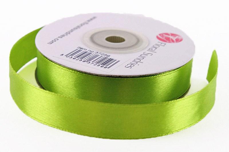Satin Ribbon Green 15mm x 25 Yards