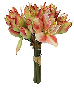 Pink Amaryllis artificial flower bundle