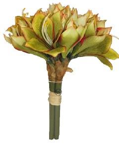 Green Amaryllis artificial flower bundle