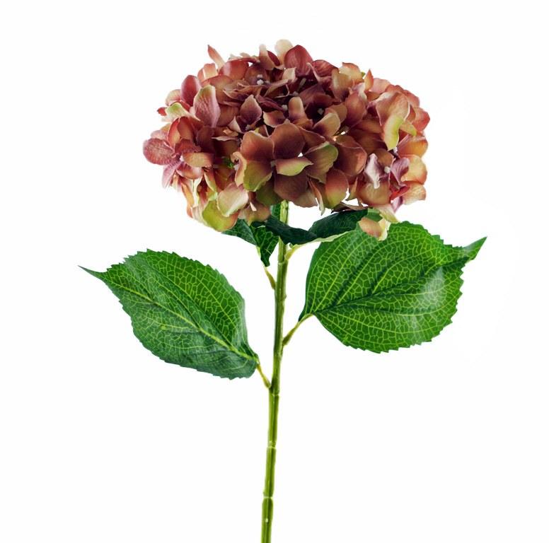 Dusty pink hydrangea flower 80cm