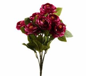 Beauty Pink Artificial Ranunculus Bunch x 7 Stems