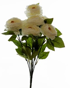 Artificial Ranunculus Bunch Cream x 7 Stems