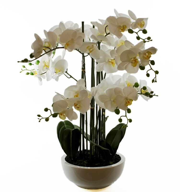 Artificial Orchid Plant 84cm Real Touch x 8 Stems
