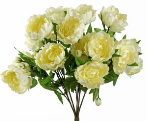 Artificial Peony Bundle x 15 Cream 23.5""