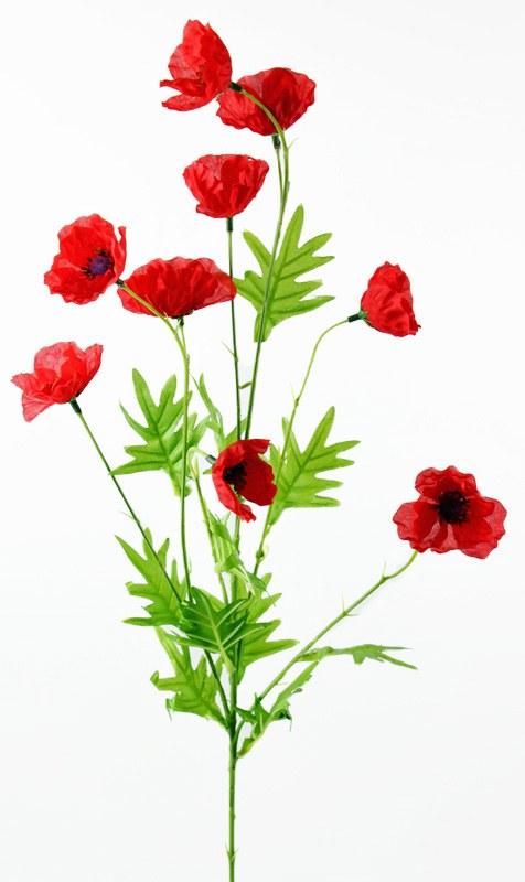 Artificial Poppy Stem Red 80cm