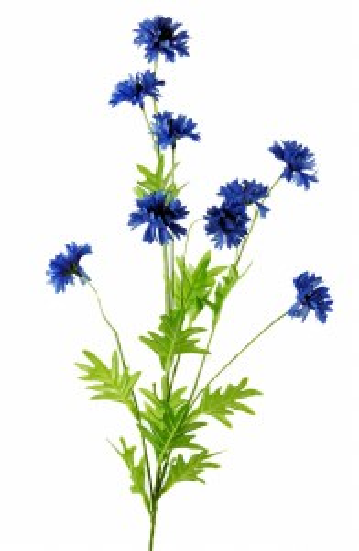 Artificial Cornflower Blue Flower 82cm