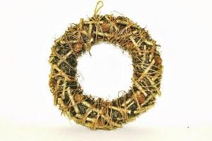 Glitter Christmas wreath 34cm