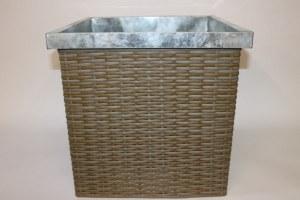 Aqua weave square zinc plant pot container, height- 41cm