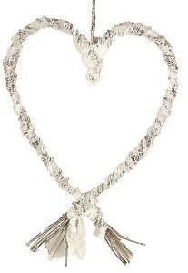 Lace wicker heart 38cm