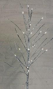Silver Glitter Pre Lit Twigs 120cm
