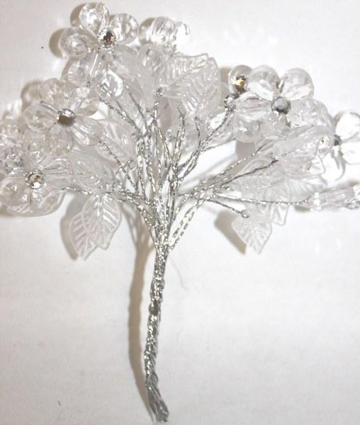 Flower bundle clear diamante large