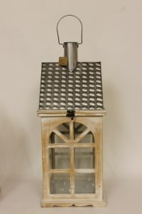 Wooden house candle lantern-52cm
